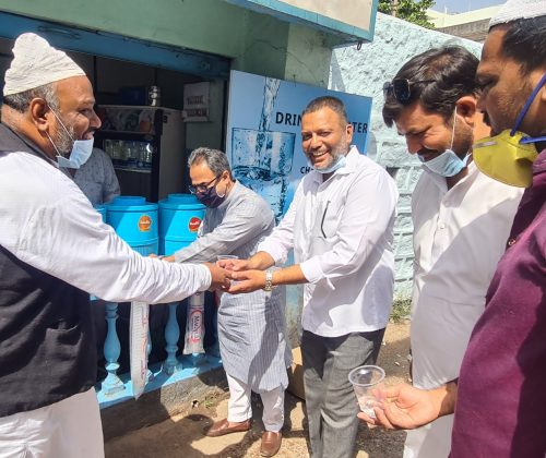FREE Drinking Water Camp, opp., Dargah Hara Darwaza, Mustaid Pura, Hyd., – TS.